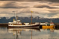 Old fishing port of Húsavik Centre of whale watching  Iceland, Europe