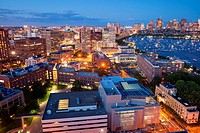 Aerial view of Cambridge and Boston´s Back Bay