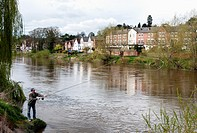 Fishing in the River Severn, Bewdley, Worcestershire