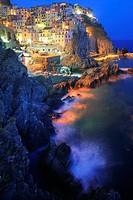 Town of Manarola in Italy´s Cinque Terre national park