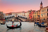 Venice´s Canal Grande at sunset