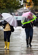 2 Women Walking in the Rain