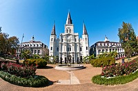 St  Louis Cathedral, New Orleans, state of Louisiana, USA, North America,