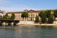 Pont Royal, Louvre museum and River Seine, Paris, France