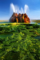 One of my images from a two day visit to the Fly Geyser in Nevada, near the Black Rock Desert  This image was made with a Canon EOS-1N and a Canon TS-...