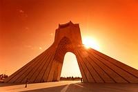 The Azadi Tower, or King Memorial Tower, Teheran, Iran