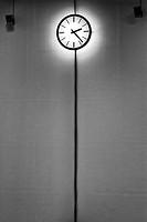 Clock in a museum, Paris, France.