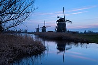 Dusk at the Drie Molen, Leidschendam, Zuid-Holland, The Netherlands