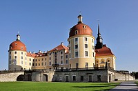 view from north of the famous baroque castle in the sourronding of dresden