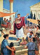 Proclamation of the Edict of Milan in February 313 by J. H. Valda