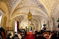 Arab lounge of the Pena Palace in Sintra  Sintra, Lisbon, Portugal, Europe