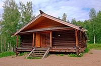 Country wooden estate  ´Taltsa´s´ Talzy - Irkutsk architectural and ethnographic museum  Baikal, Siberia, Russian Federation