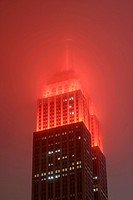 Empire State Building in Fog, New York, USA