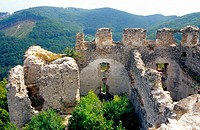The ruins of castle Tematin, Povazsky Inovec, Slovakia