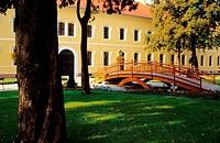 The courtyard of Dostojnicky pavilon Nadvorie Dostojnickeho pavilonu, Komarno, Slovakia