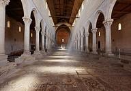Glimpse of Central Nave of the Basilica of Santa Maria Assunta, Aquileia, Friuli-Venezia Giulia, Italy