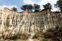 Les Orgues rock formations, Arles-sur-Tech, Pyrenees-Orientales, Languedoc-Roussillon, France.