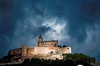 La Mota castle on the hill, Alcala la Real, Spain