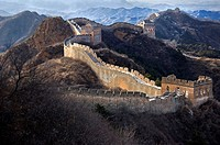 The Great Wall of China snaking across the hills. China, Beijing, Jinshanling, Great Wall. (/Julien Garcia)