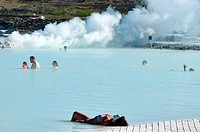 The magical Blue Lagoon hot spring in Reykjanes, Iceland
