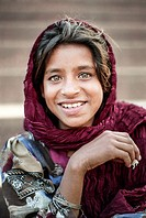 Portrait of a girl, Lahore, Punjab, Pakistan