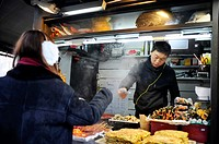 SEOUL SOUTH KOREA Street food vendor.