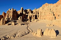 Panaca rock formation at Cathedral Gorge State Park, Nevada, USA, North America.