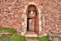 Door, Abandoned castrle, Riba de Santiuste , Guadalajara, Spain