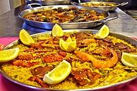 Sellfish paella, Gijon, Asturias, Spain
