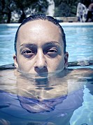 portrait in water