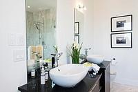 Bathroom in a modern house