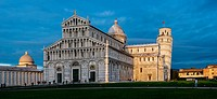 Cathedral and Leaning tower in Pisa, Italy.