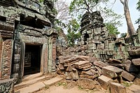 Ta Prohm ruin, a temple at Angkor. Siem Reap. Cambodia.