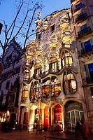 Casa Batlló Batlló House by Antoni Gaudi. 1910. Barcelona.