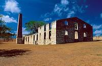 France, Guadeloupe, Marie-Galante, Murat Castle, sugar refinery