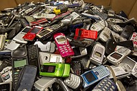 Dexter, Michigan - Cell phone recycling at ReCellular, Inc. The company collects used phones, inspects and repairs them, and resells them. These old p...