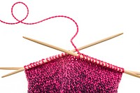 Knitting needles and wool.
