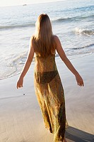 Young Woman On Beach.