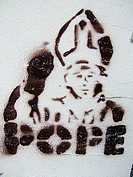 Pope graffity, Berlin