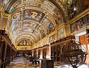 library in Monastery of San Lorenzo de El Escorial.