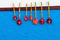 Traditional musical instruments, Kasbah of the Oudayas, Rabat, Morocco.