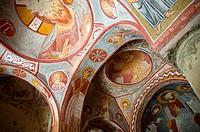 Frescoes in Elmali church, Goreme Open Air Museum. Cappadocia, Central Anatolia, Turkey.