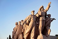 Statue of the workers in Tiananmen Square.
