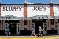 Key West Florida USA Duval Street famous Sloppy Joe´s Bar Hemingway hangout tourist attraction.