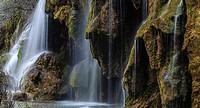Monumento Natural del Nacimiento del Río Cuervo. Parque Natural de la Serranía de Cuenca. Province of Cuenca. Spain.