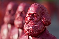 sculptures of Karl Marx, installation by the artist Ottmar Hörl, Trier, Germany.