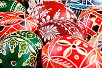Traditional Easter eggs close-up.