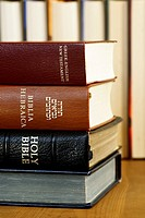 Holy Bible in different languages - english, hebrew and greek.