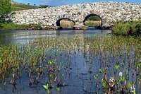 The Quiet man bridge, so known because it featured in the film of the same name, near Oughterard, County Galway, Ireland.