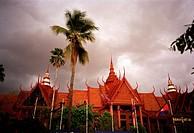 National Museum of Cambodia in Phnom Penh in Cambodia in Southeast Asia Far East.